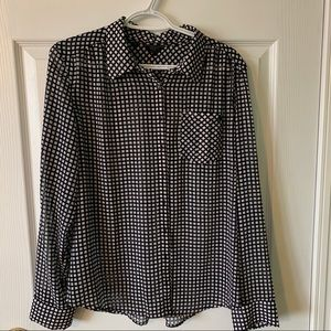 Guess Black and White Checkered blouse